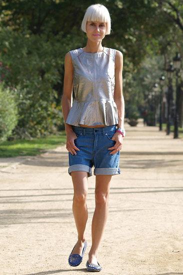Froufrou avec jeans court