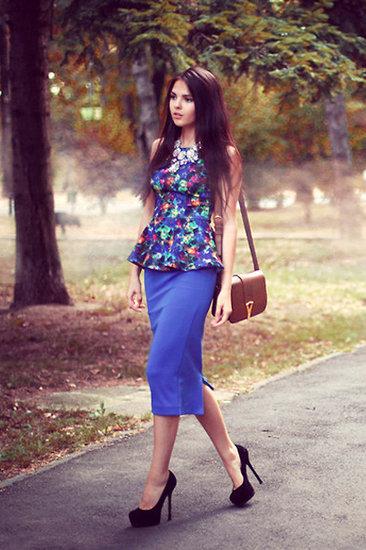 Veste coloré impression de fleurs