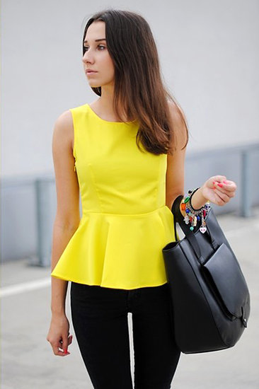 Veste simple jaune