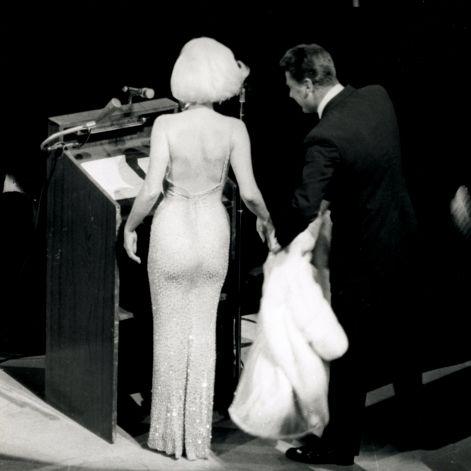 Dos de la robe de Jean Louis portée par Marilyn Monroe