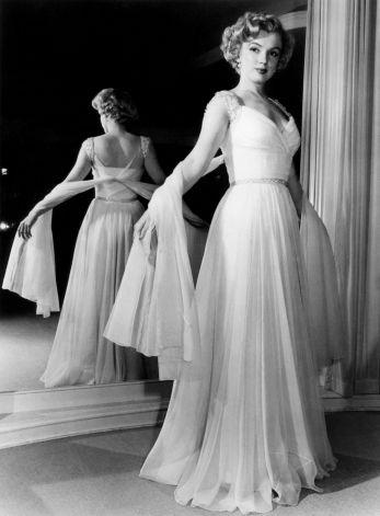 Robe de soirée en mousseline de soie portée par Marilyn conçue par Don Loper