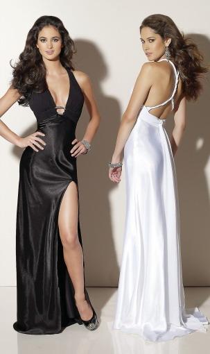 robe soirée classique noire et blanche