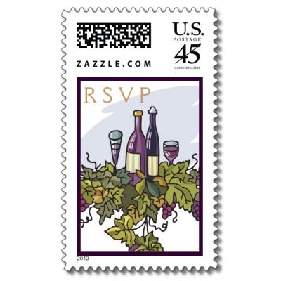 timbre rsvp, étiquette de cocktail