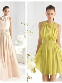 robes de cocktail en encolure ronde courte ou longue