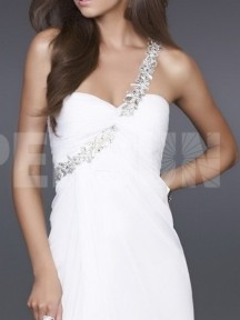 robe de cocktail blanche et longue