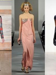 robes de bal longue en noire, en rose perle ou violet profond