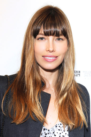 coupe simple et vintage de Jessica Biel