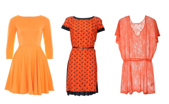 Robe de cocktail en orange