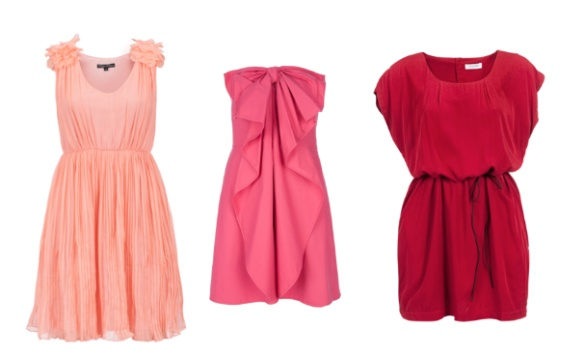 Les robe de cocktail en rose, rouge