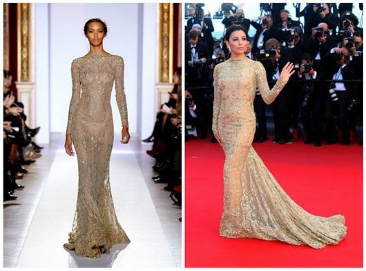 robe de soirée de Zuhair Murad vêtue par Eva Longoria lors de Cannes 2013