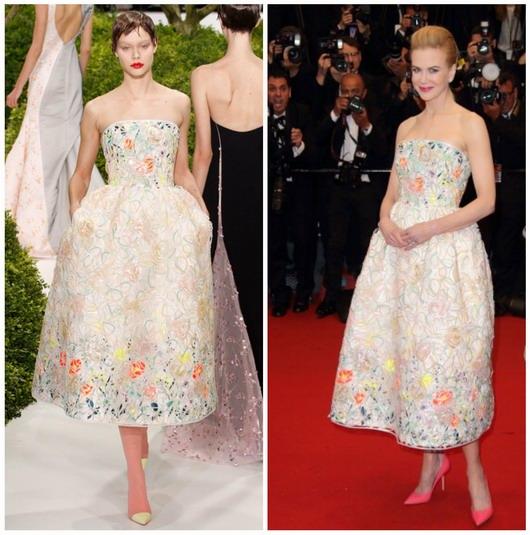 robe bouffante aux tons pastels de Christian Dior par Nicole Kidman au festival de Cannes 2013