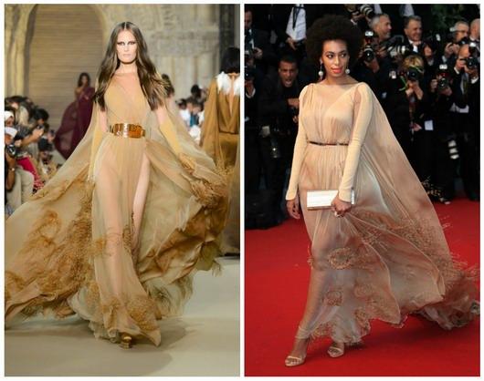 la soeur de la sulfureuse Beyoncé a opté pour la création de Stéphane Rolland lors du festival de Cannes 2013