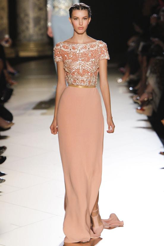 Une robe de soirée longue d'Elie Saab