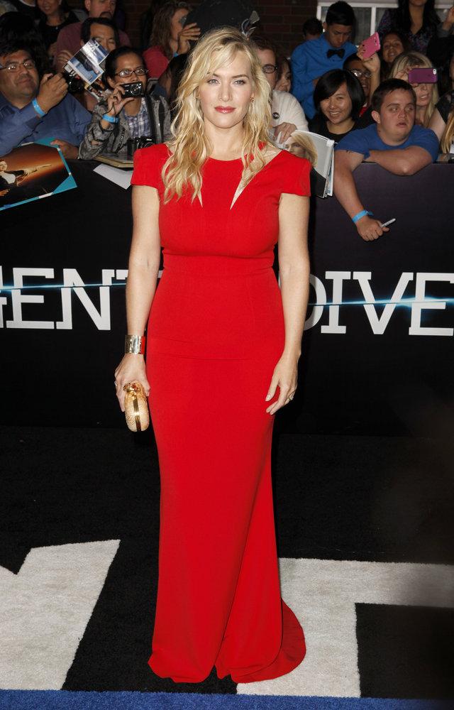 Kate Winslet à l'occasion de l'avant-première mondiale de Divergente