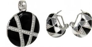 bijoux laqués noir et blanc