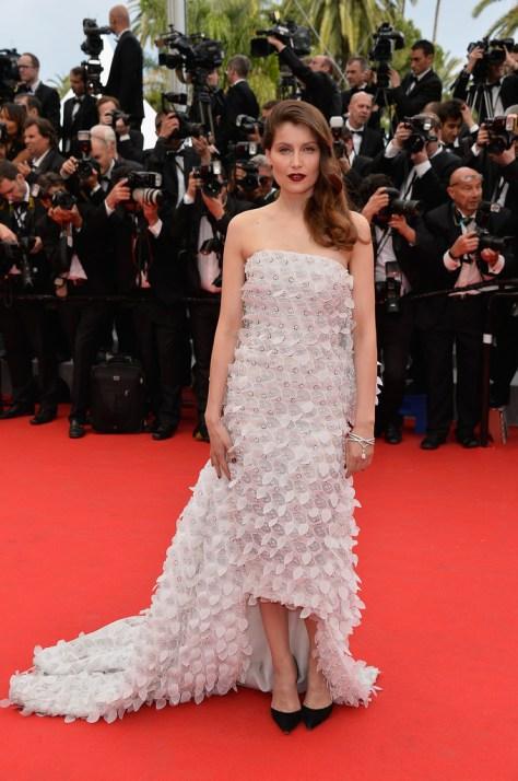 Laetitia Casta dans une sublime robe asymétrique signée Dior
