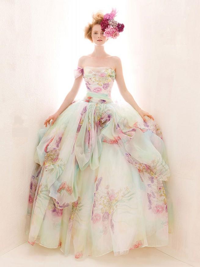 robe de mariée colorée signée Atelier Aimée