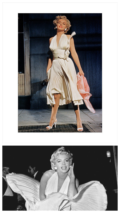 Marilyn Monroe robe de cocktail encolures américaines
