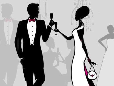 Cravate noire cocktail