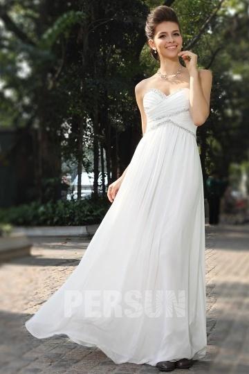 c14dc952099 Robe de bal blanc du printemps