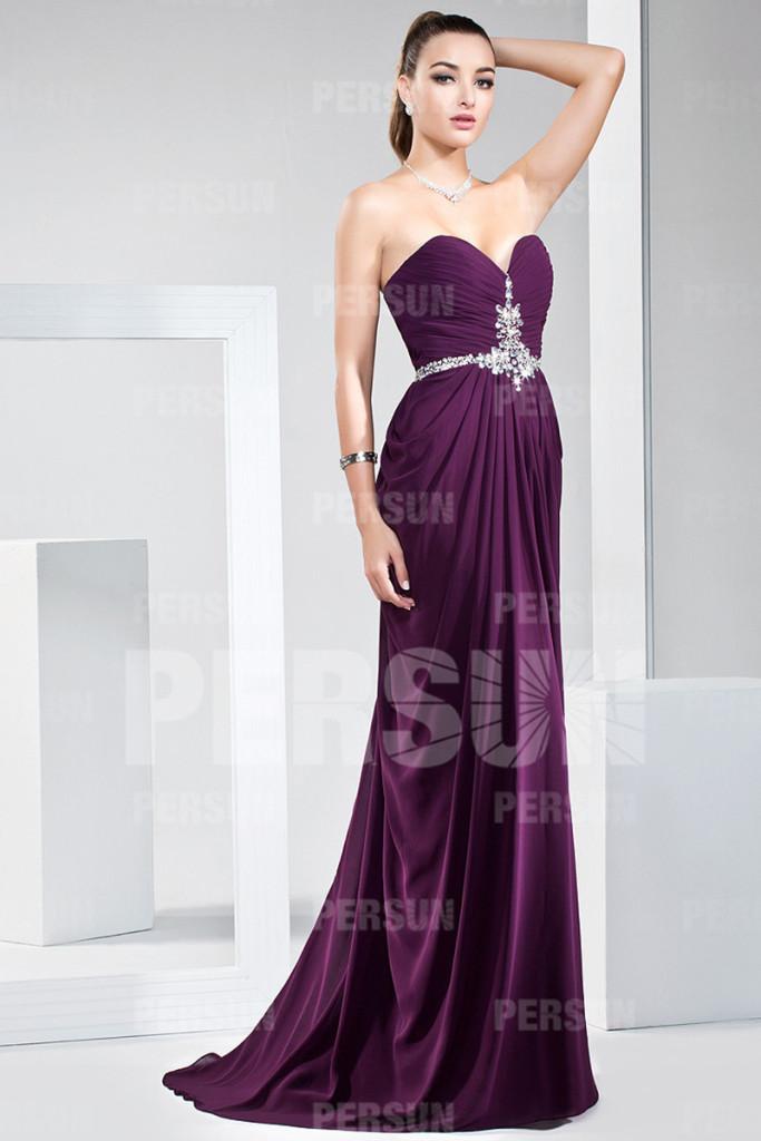 robe de bal au coeur décollté sexy longue