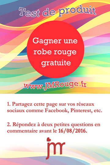 Test de produit robe rouge JMRouge 2016