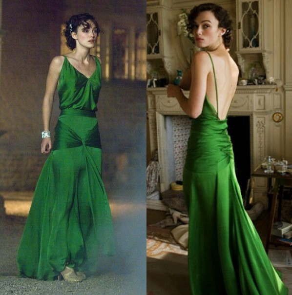 robe-verte-avec-bretelles-fines-col-v-de-keira-knightley