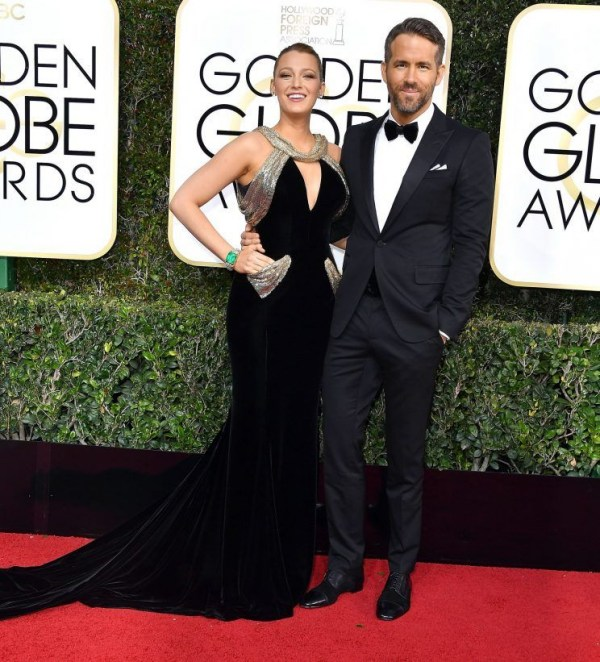Blake Lively et Ryan Reynolds aux Golden Globes 2017