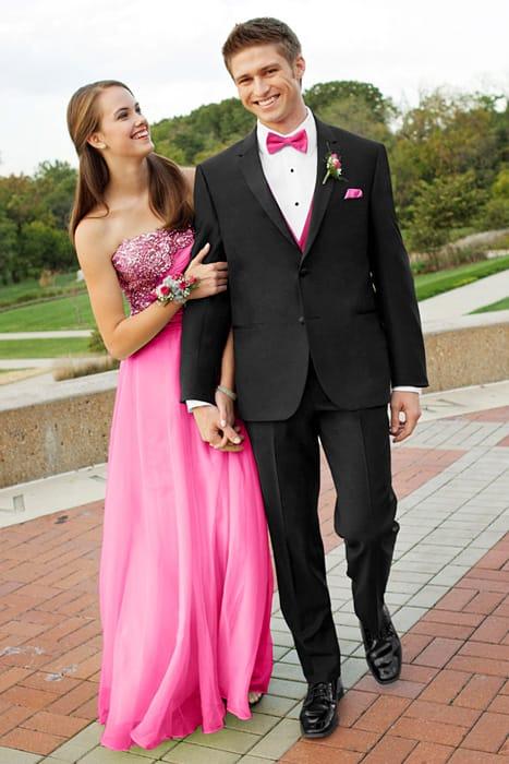 robe rose bustier à paillettes pour le bal