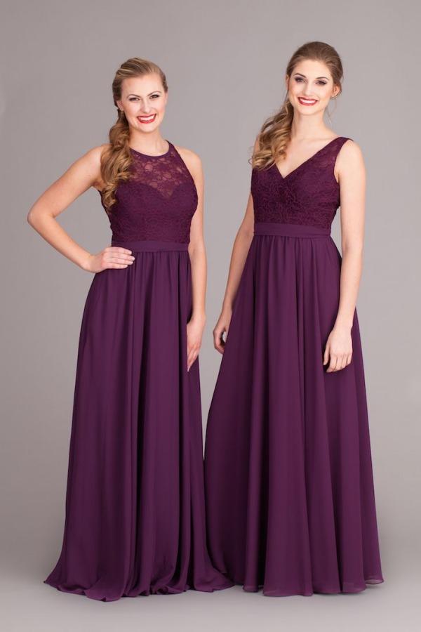 Robes longues en violet pour cocktail mariage