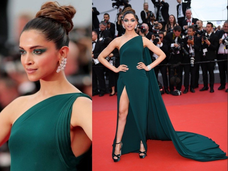 Deepika Padukone tenue en vert Cannes Film Festival