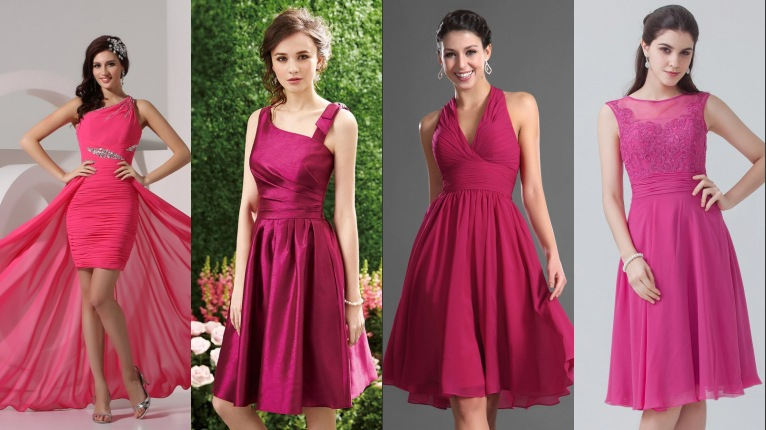 chic collection de robes de bal en fuchsia