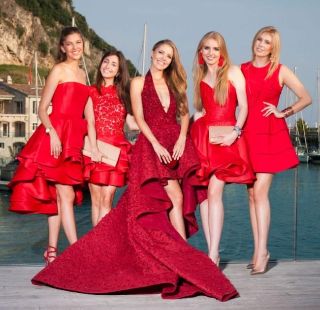 cocktail mariage en rouge de Victoria Swarovski