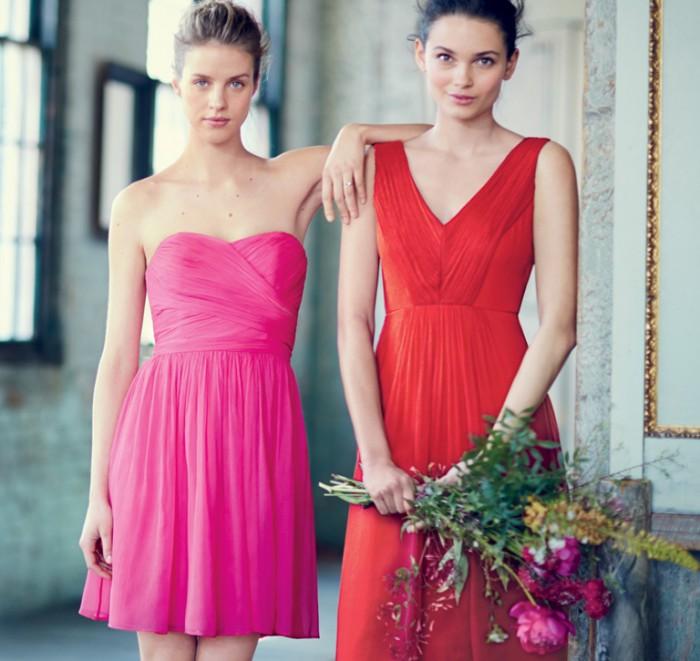 robes cocktail fuchsia et rouge pour mariage