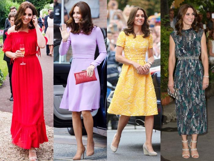 Kate Middleton robes tournée européenne 2017