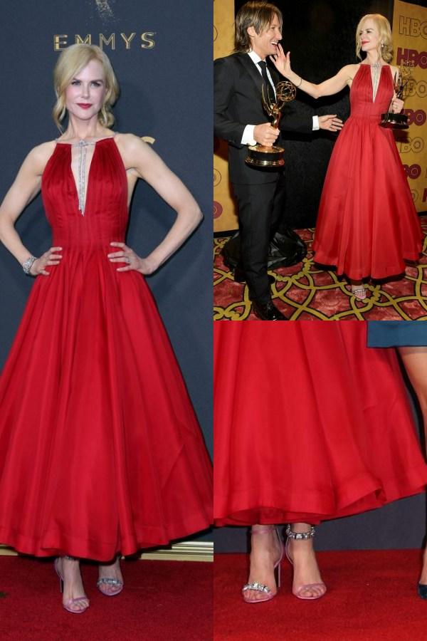 Nicole Kidman en sandales différentes pour Emmys 2017