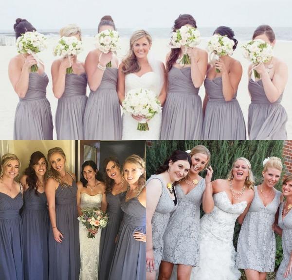 photos de robes femme chic pour demoiselle d'honneur en gris