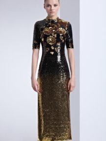vintage robe de soirée noire à manche courte