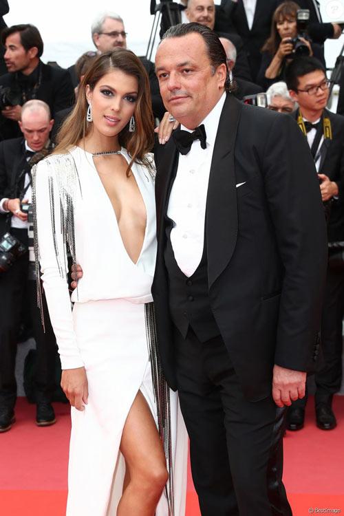Iris Mittenaere et Gilles Mansard à Cannes Film Festival
