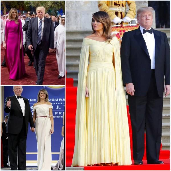 robes de soirée longues élégantes de Melania Trump