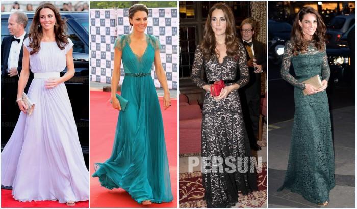 robes longues de soirée Kate Middleton