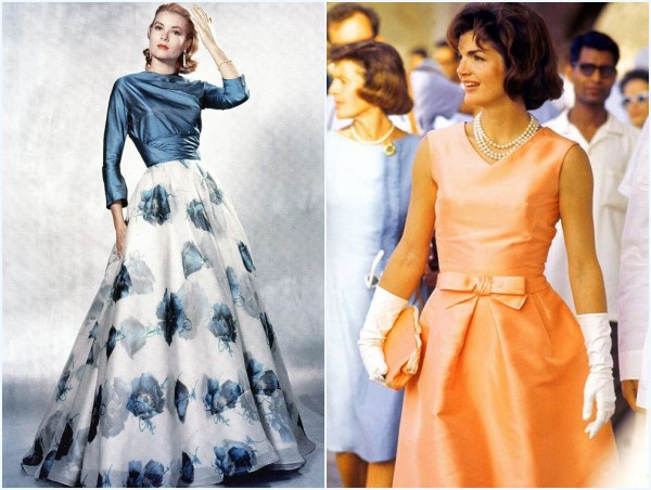 robes de Grace Kelly et Jacqueline Kennedy