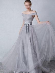 c62be74f5f2 robe de soirée grise longue princesse épaule dénudé ...