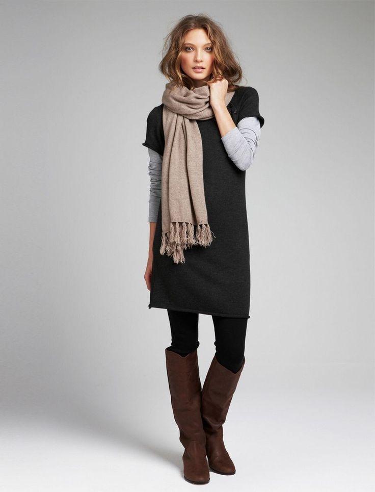 robe pull et bottes longues