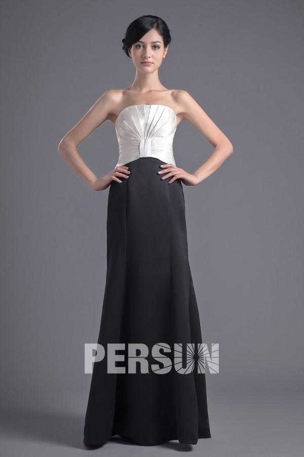 robe de sorée blanche et noire bustier droit