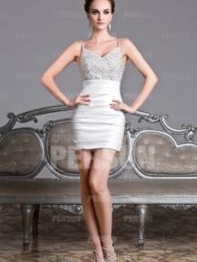 mini robe cockatil fourreau sexy avec bretelle fine