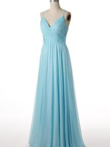 robe soirée mariage bleu turquoise longue avec bretelle fine