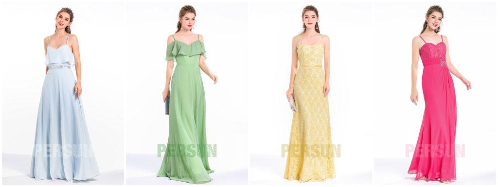 robes de soirée longues avec bretelle pas cher