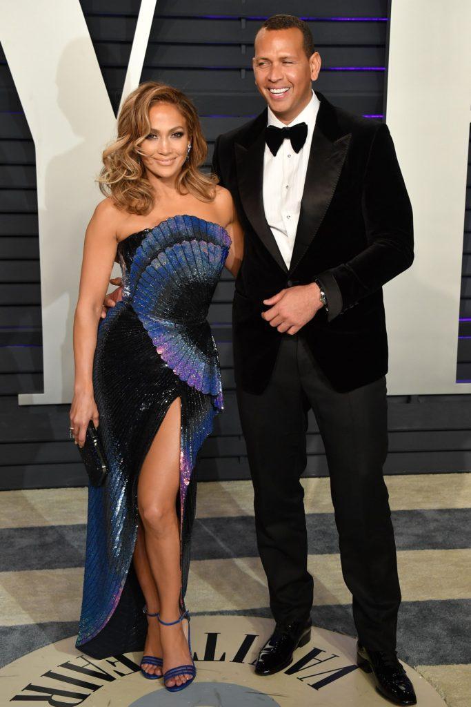 Jennfier Lopez et Alex Rodriguez aux tapis rouge de Vanity Fair Osacars after party 2019