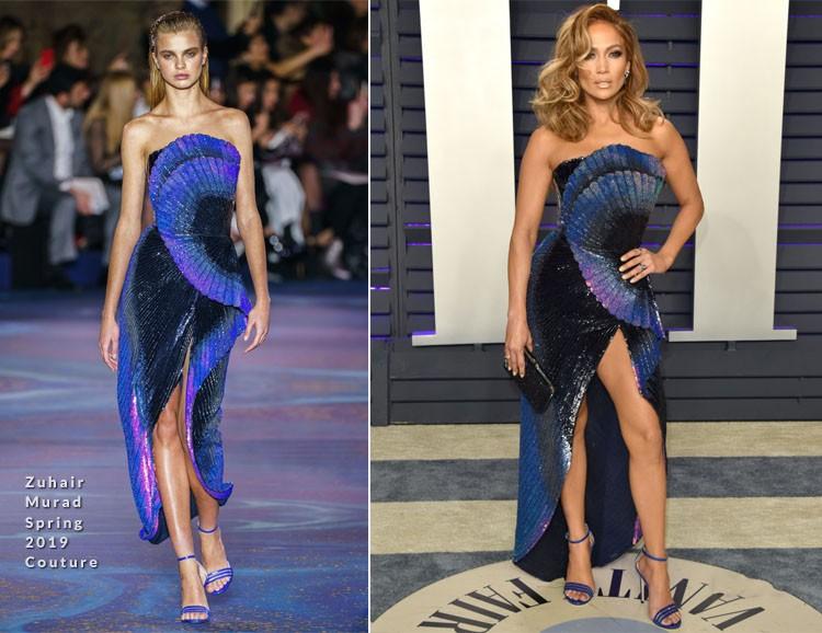 Jennifer Lopez en la robe de collection haute couture printemps-été 2019 de Zuhair Murad